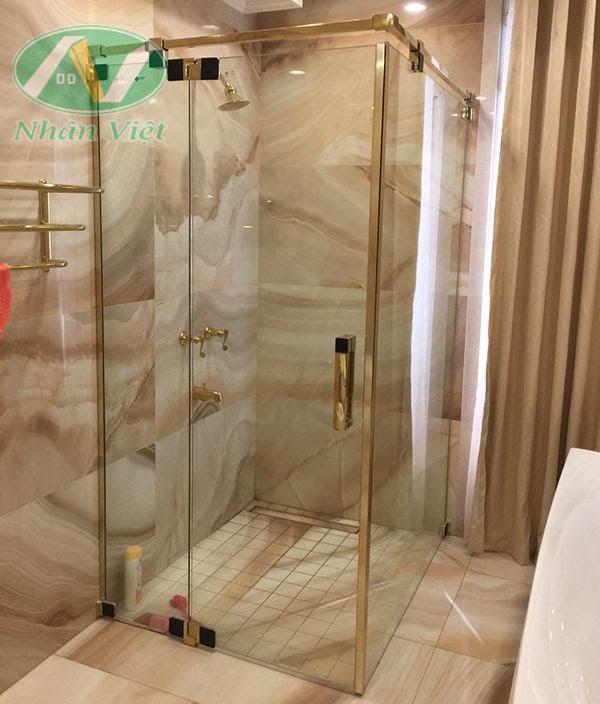 Mẫu phòng tắm kính đứng đẹp tại Nội thất Nhân Việt