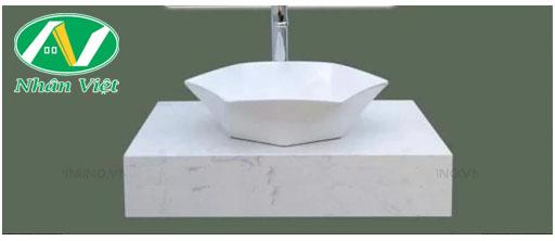 Tủ lavabo mặt đá màu trắng