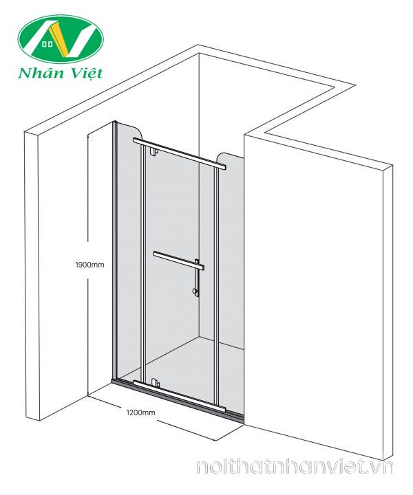 Bản vẽ kỹ thuật phòng tắm kính Fendi Bộ Phằng FIP-1X3
