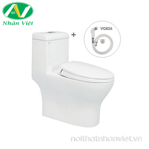 Bồn cầu Viglacera V45/VG826 một khối/vòi xịt