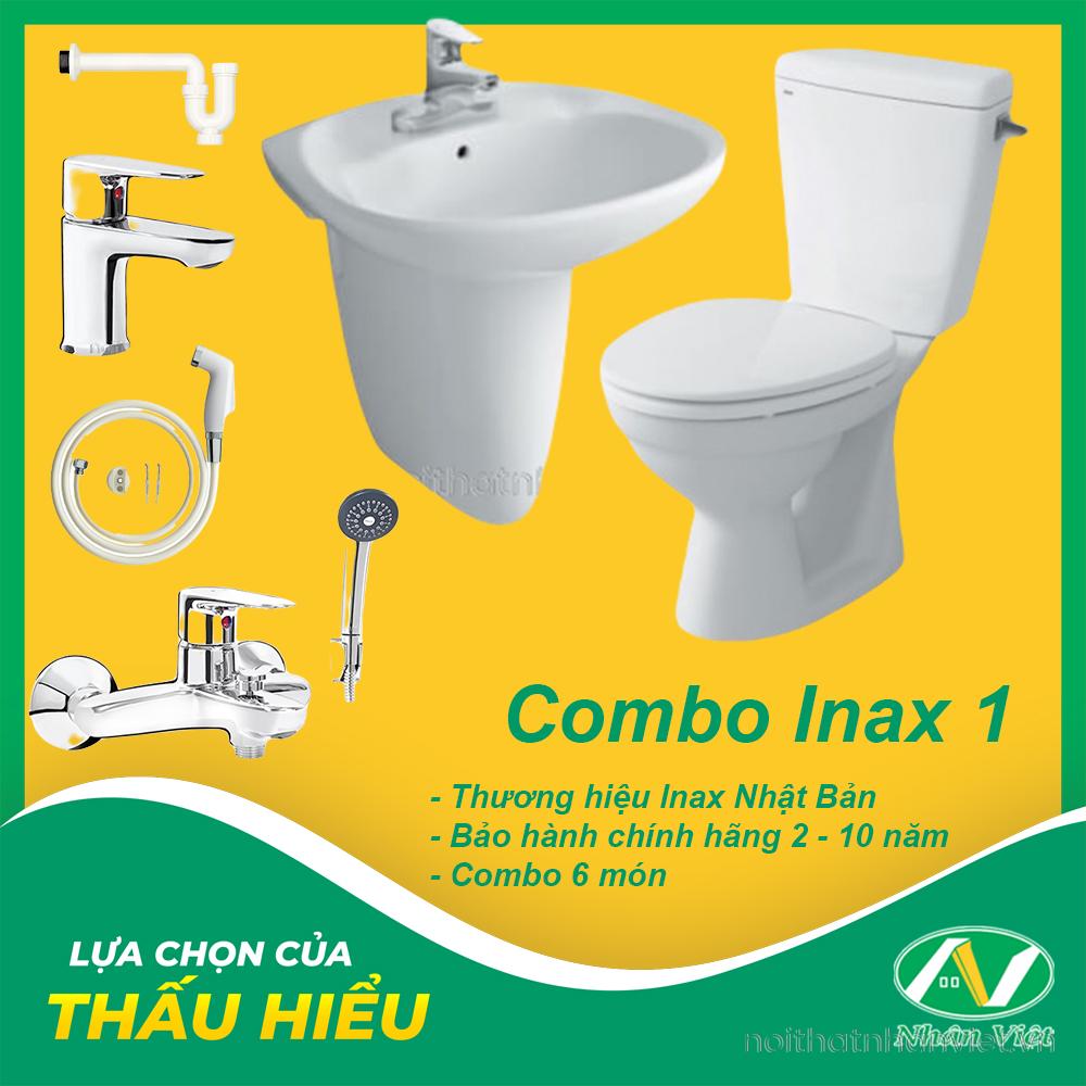 COMBO THIẾT BỊ VỆ SINH INAX 1