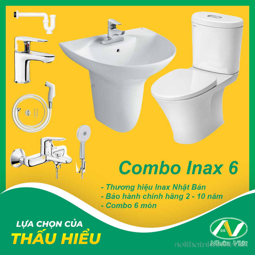 COMBO THIẾT BỊ VỆ SINH INAX 6