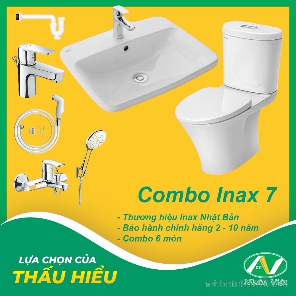 COMBO THIẾT BỊ VỆ SINH INAX 7