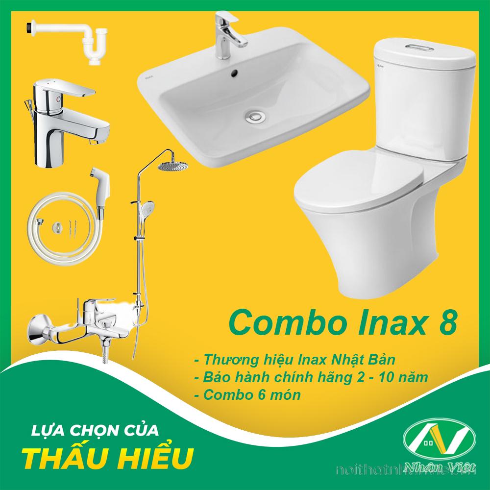 COMBO THIẾT BỊ VỆ SINH INAX 8