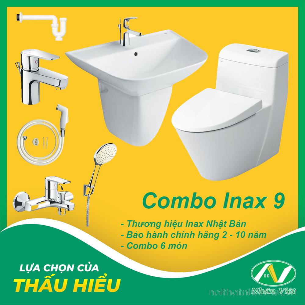 COMBO THIẾT BỊ VỆ SINH INAX 9