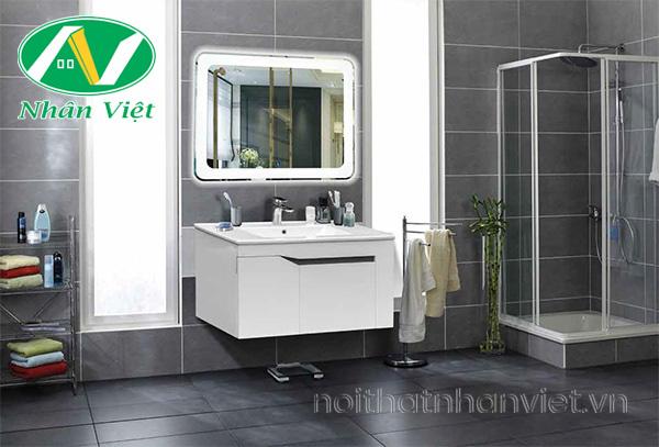 Bộ tủ chậu, kệ gương Lavabo làm phòng tắm thêm sang trọng hơn